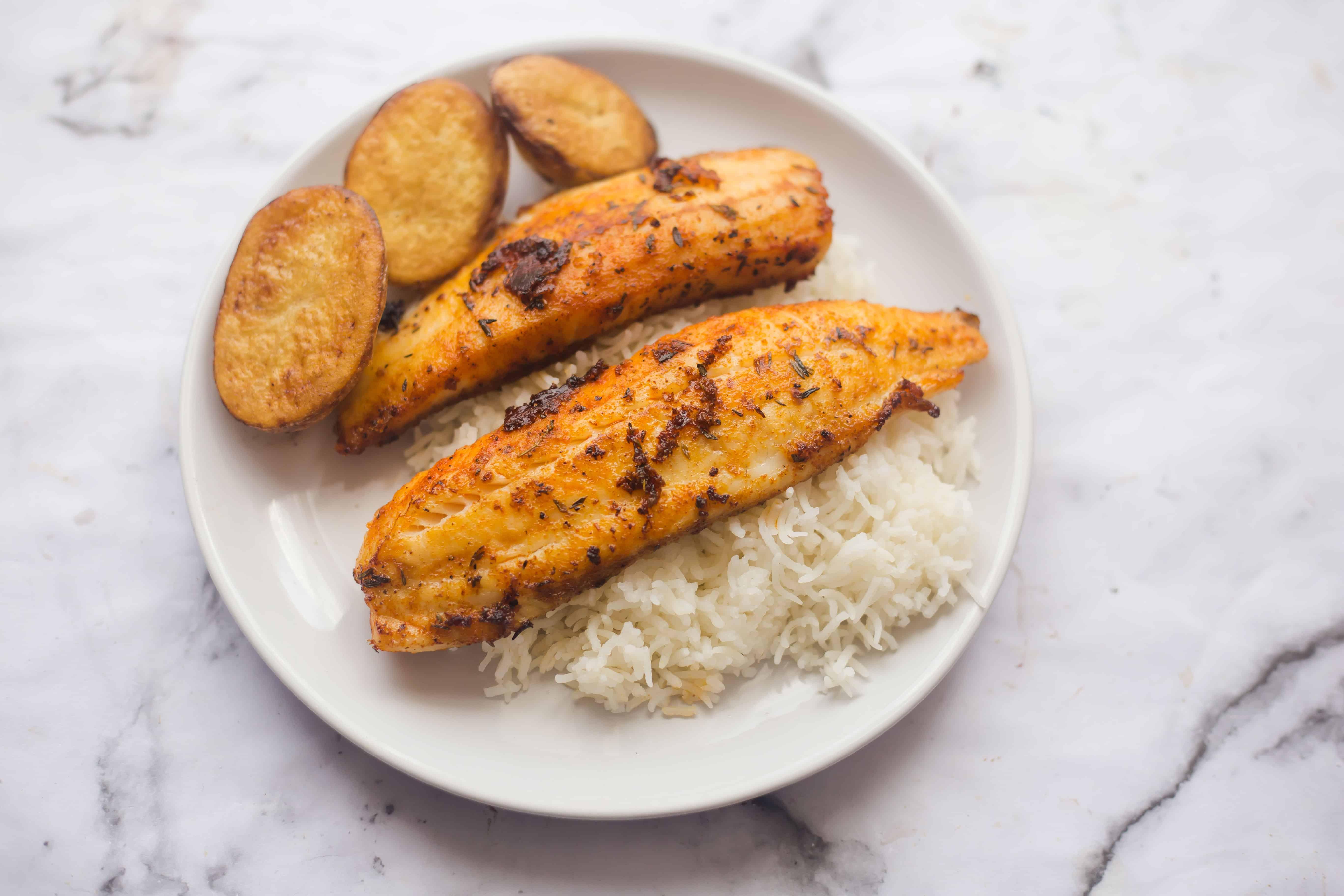Pan fried cajun fish tiffin and tea for Cajun fish fryer
